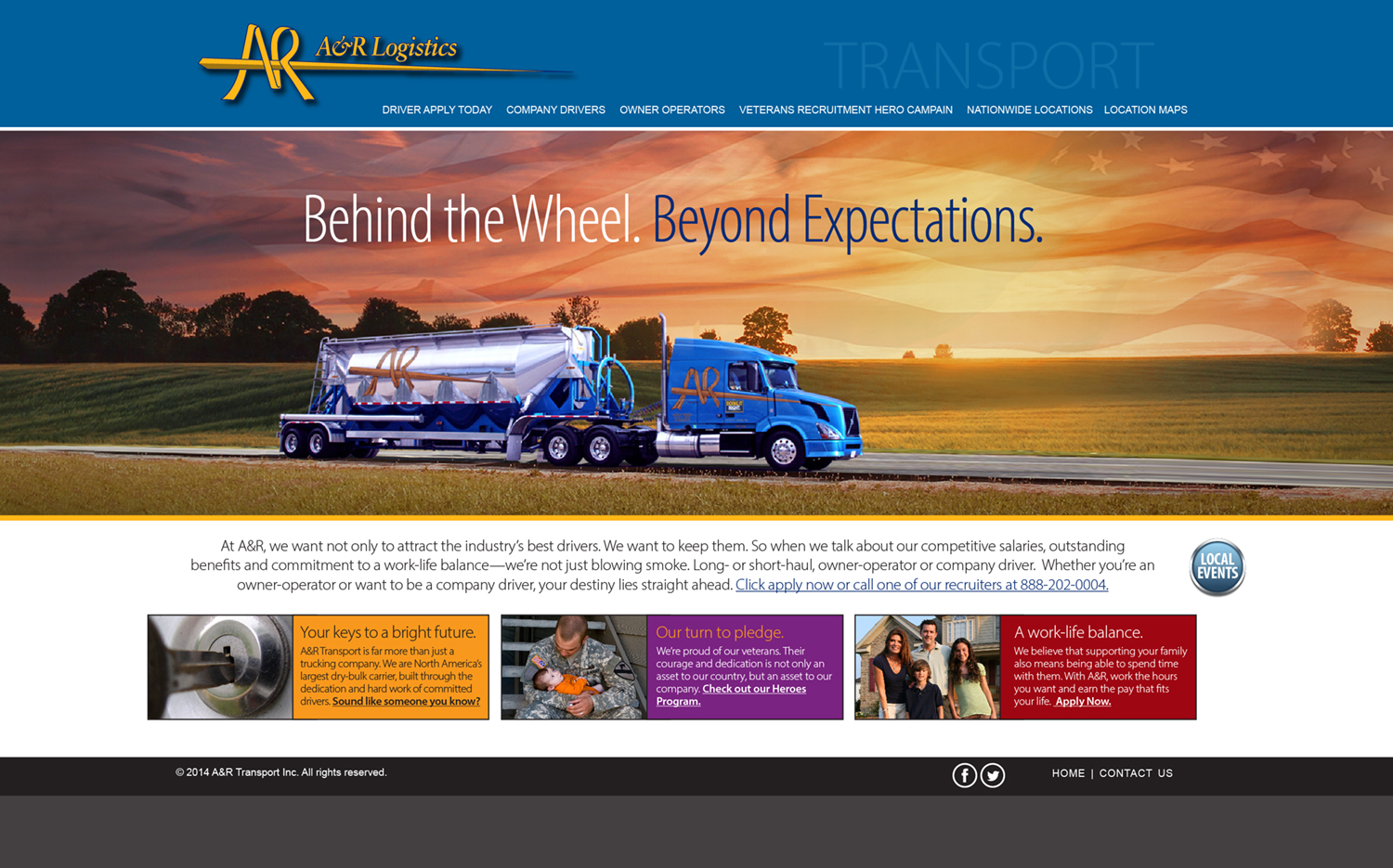 A&R-Website Homepage-Transport